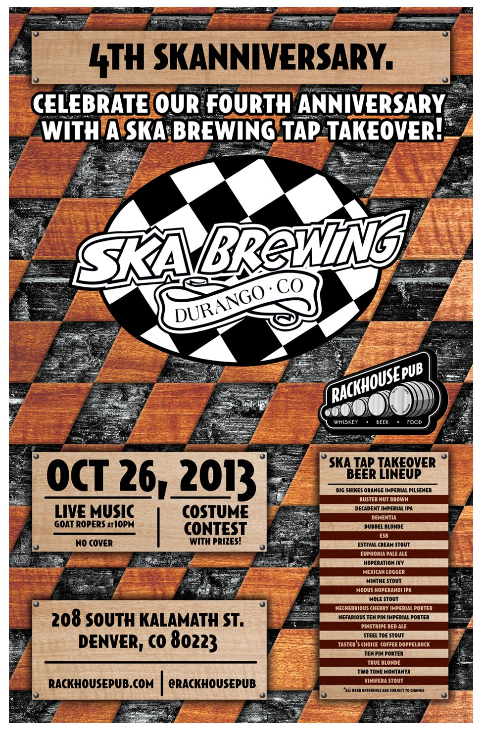 4th Anniversary — Ska Brewing Brewing Tap Takeover
