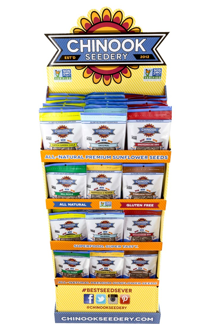 Sunflower Seed Retail Shipper Display
