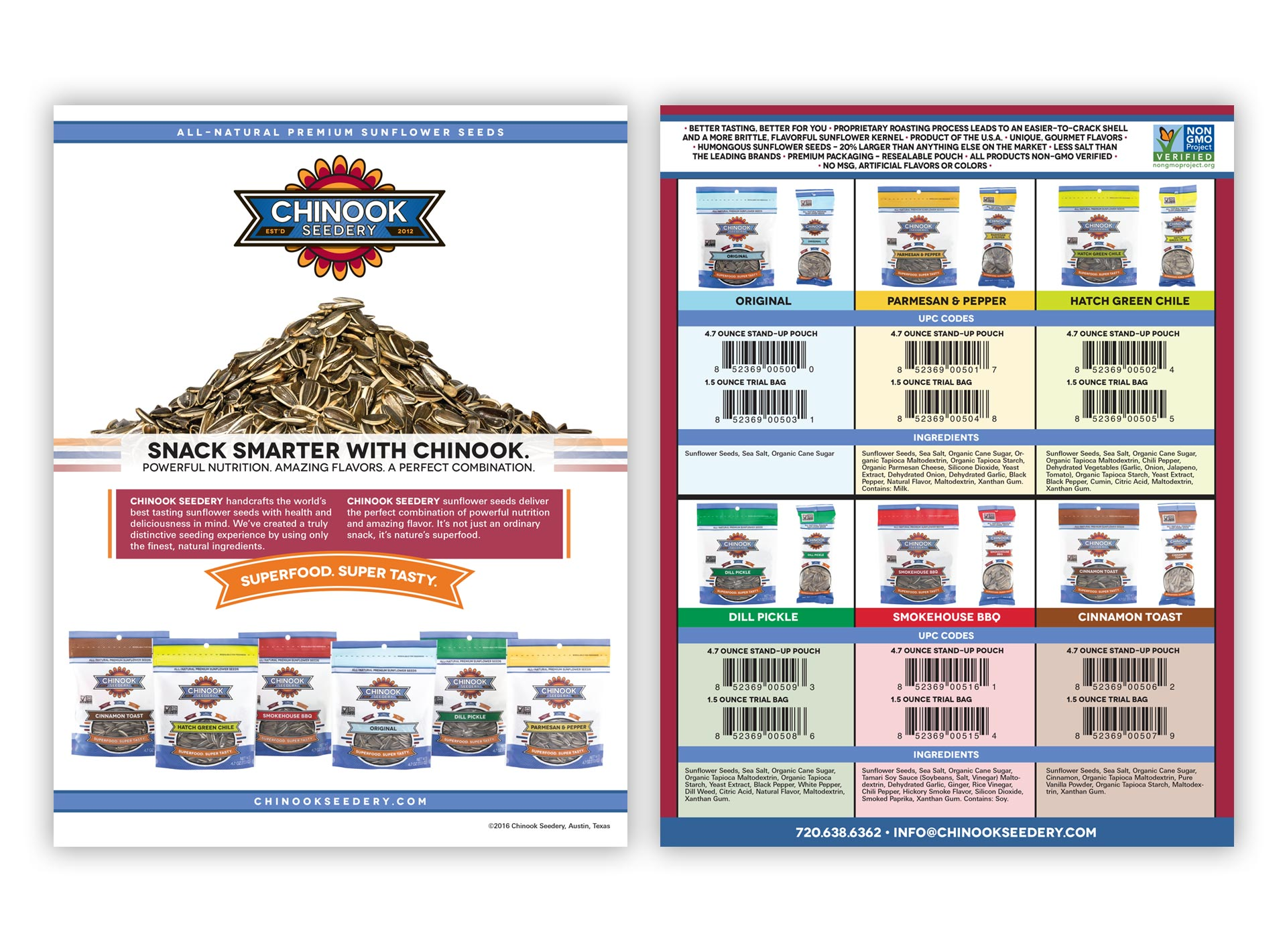 Sunflower Seed One-Page Sales Sheet