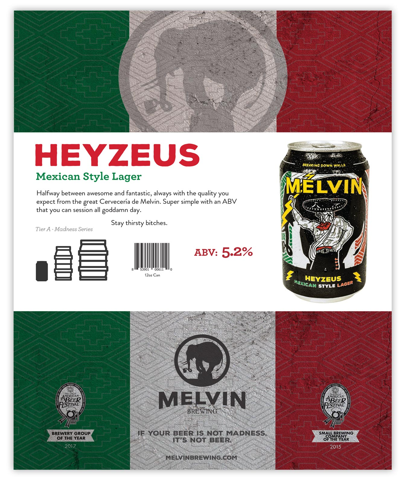 Melvin Brewing Sales Sheets