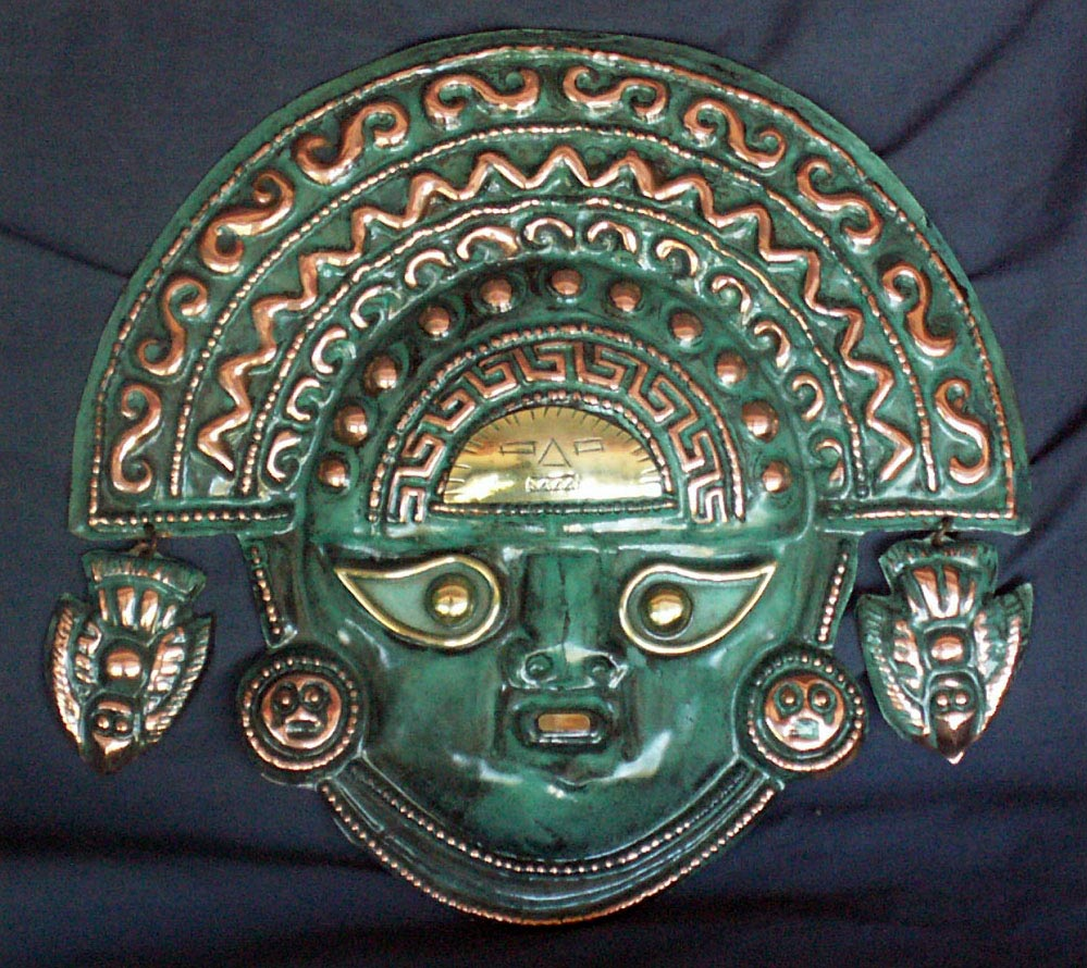 "Peruvian Incan Holy Figure Mask - ""Apu Inti"""