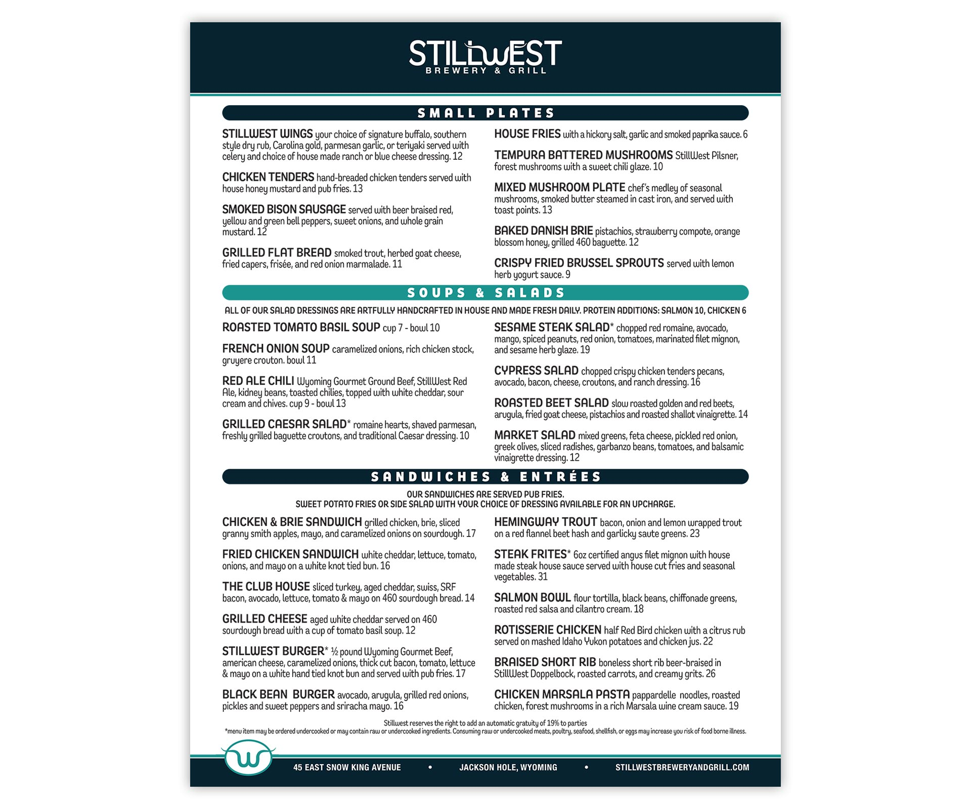 "StillWest Menu Shells <span class=""amp"">&</span> Printable <span class=""caps"">PDF</span>"