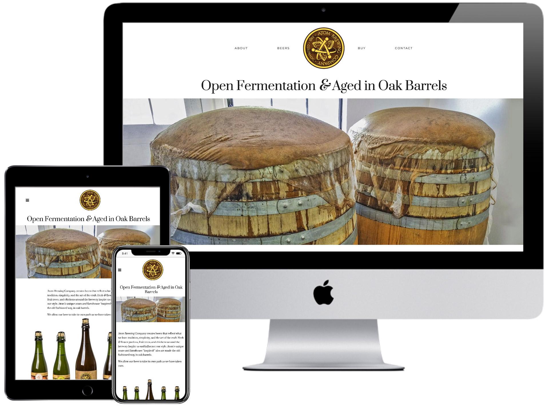 Atom Brewing Company Website
