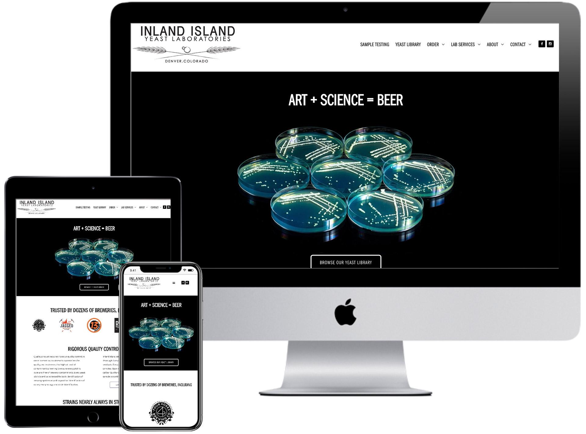 Inland Island Yeast Website