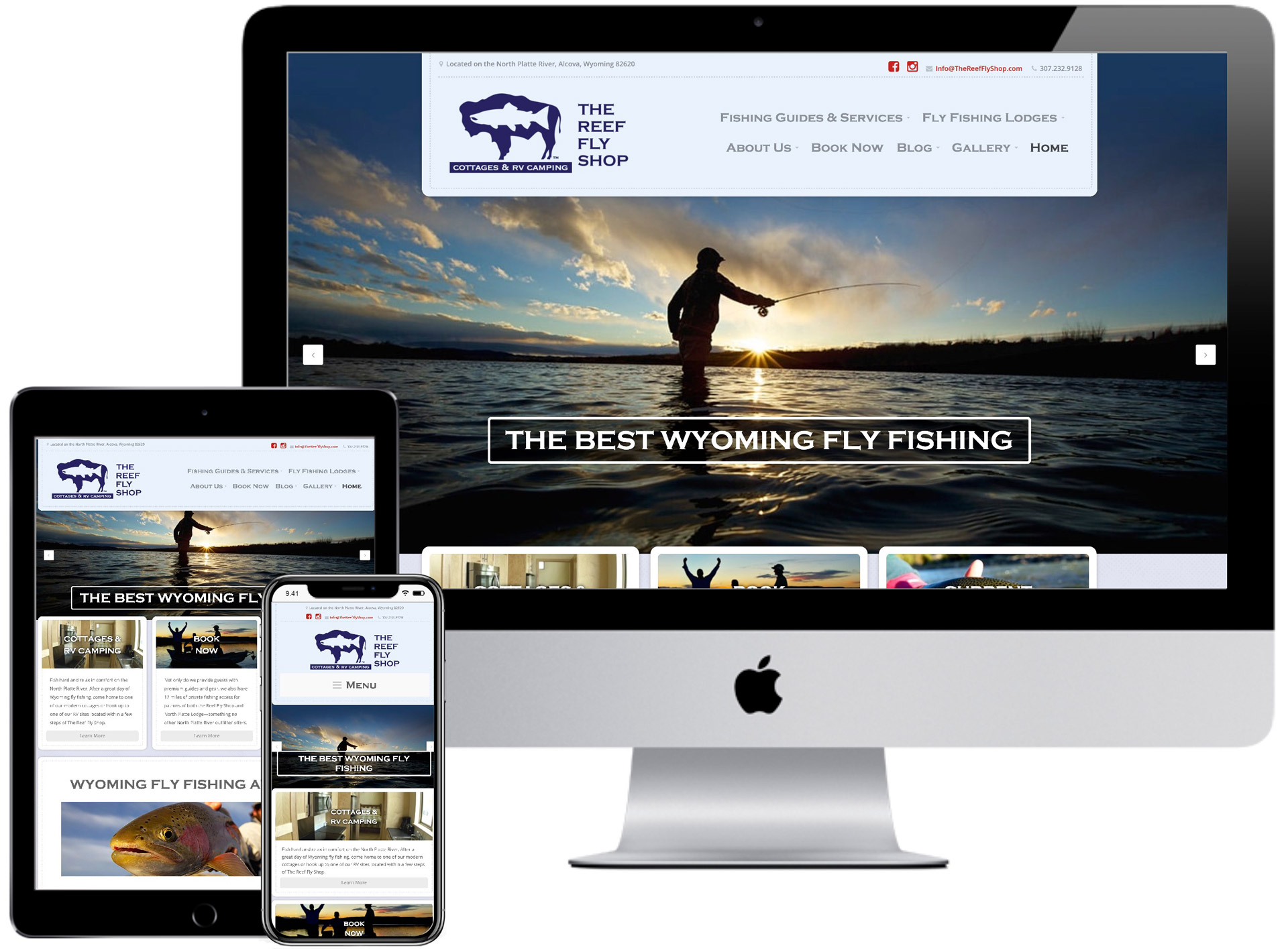 The Reef Fly Shop Website