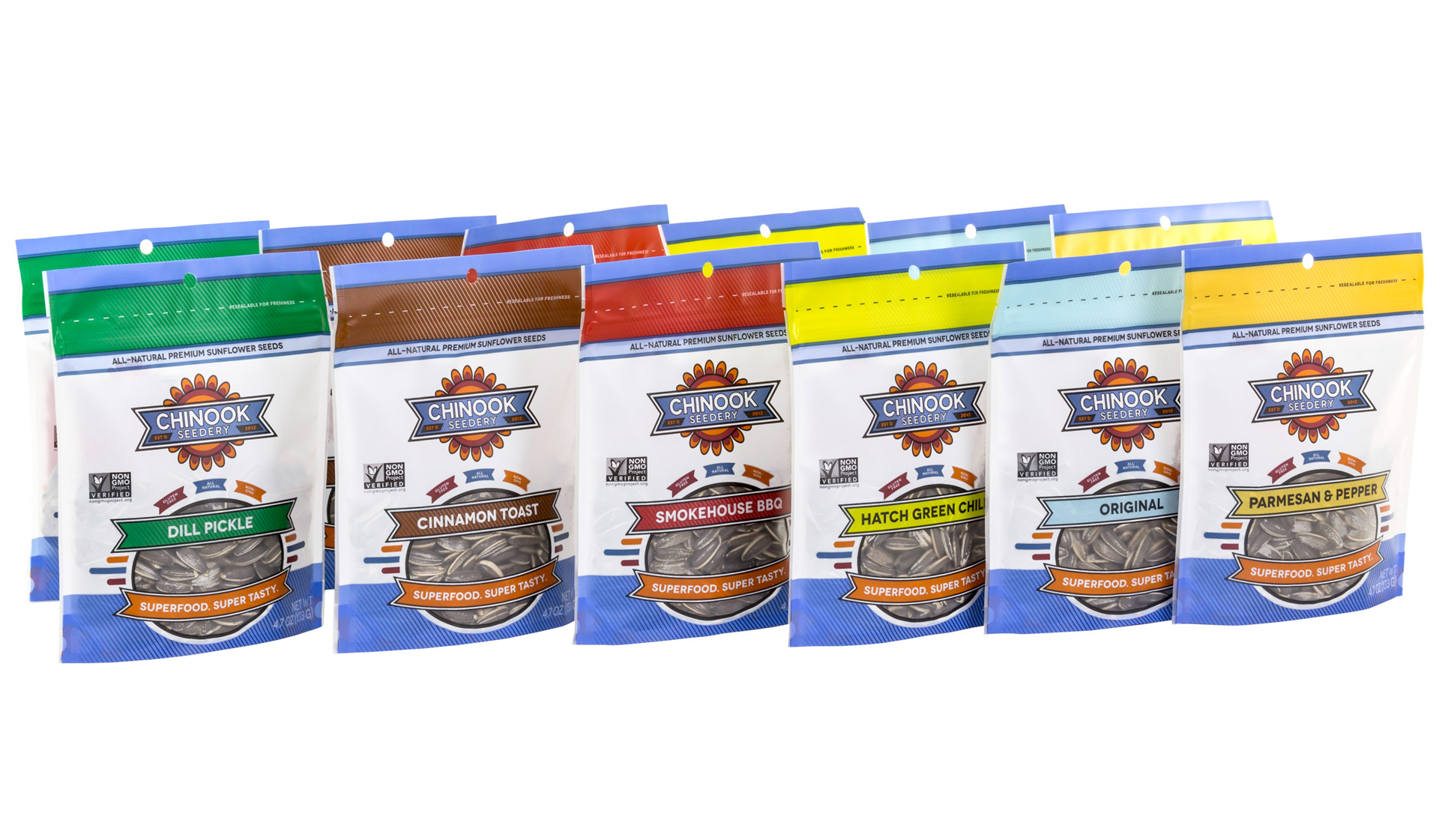 Sunflower Seed Stand-Up Pouches