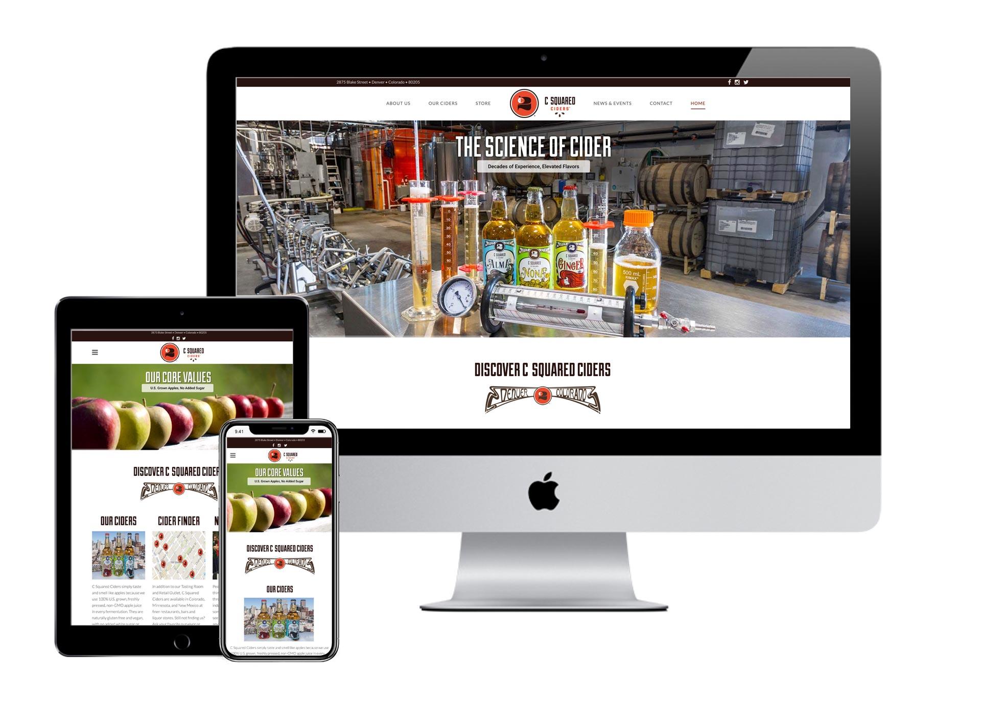 C Squared Ciders Website
