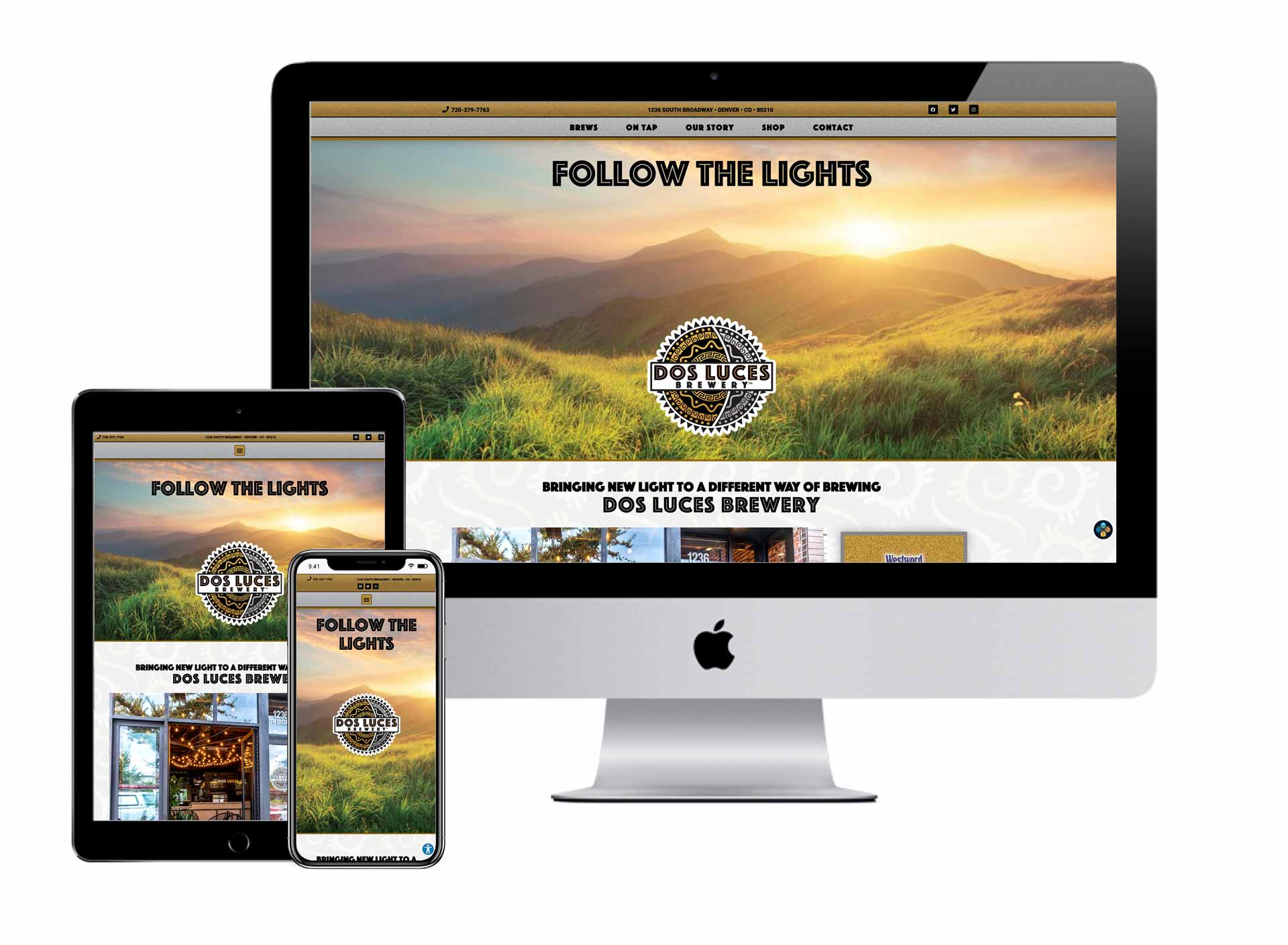 Dos Luces Brewery Website