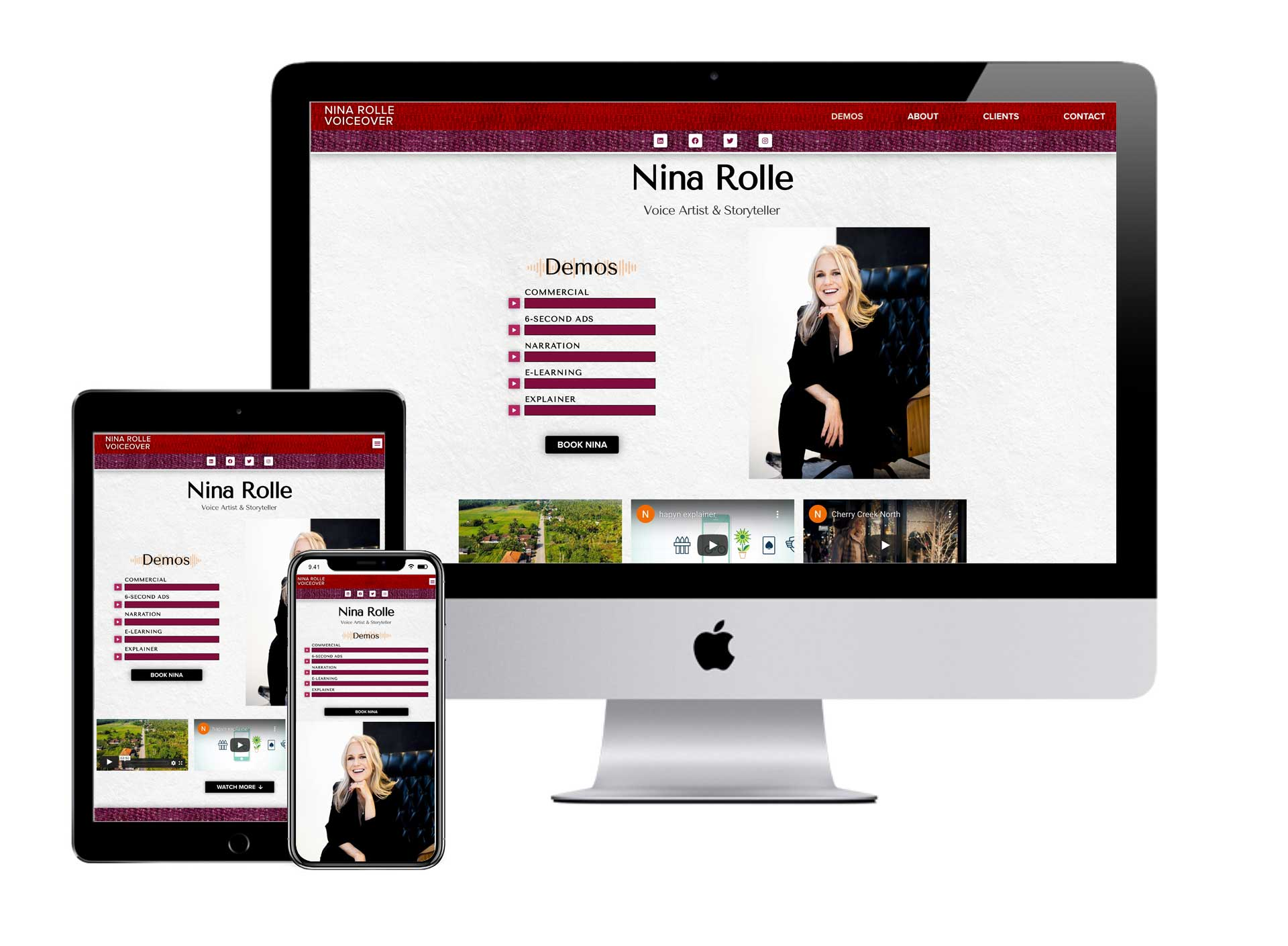 Nina Rolle Voiceover Website